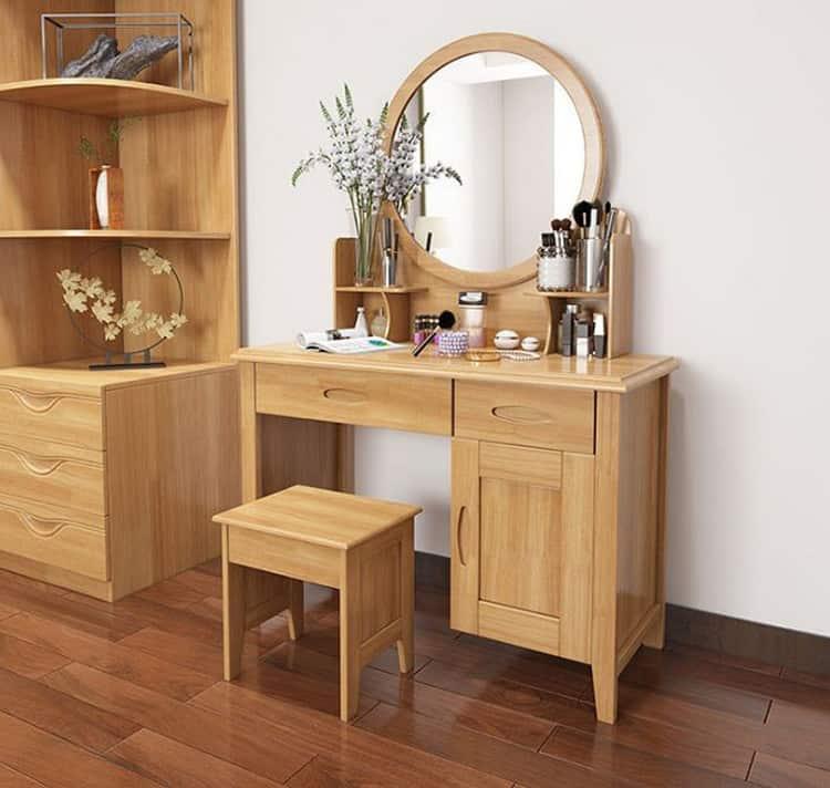 bàn trang điểm phòng ngủ gỗ tự nhiên đẹp