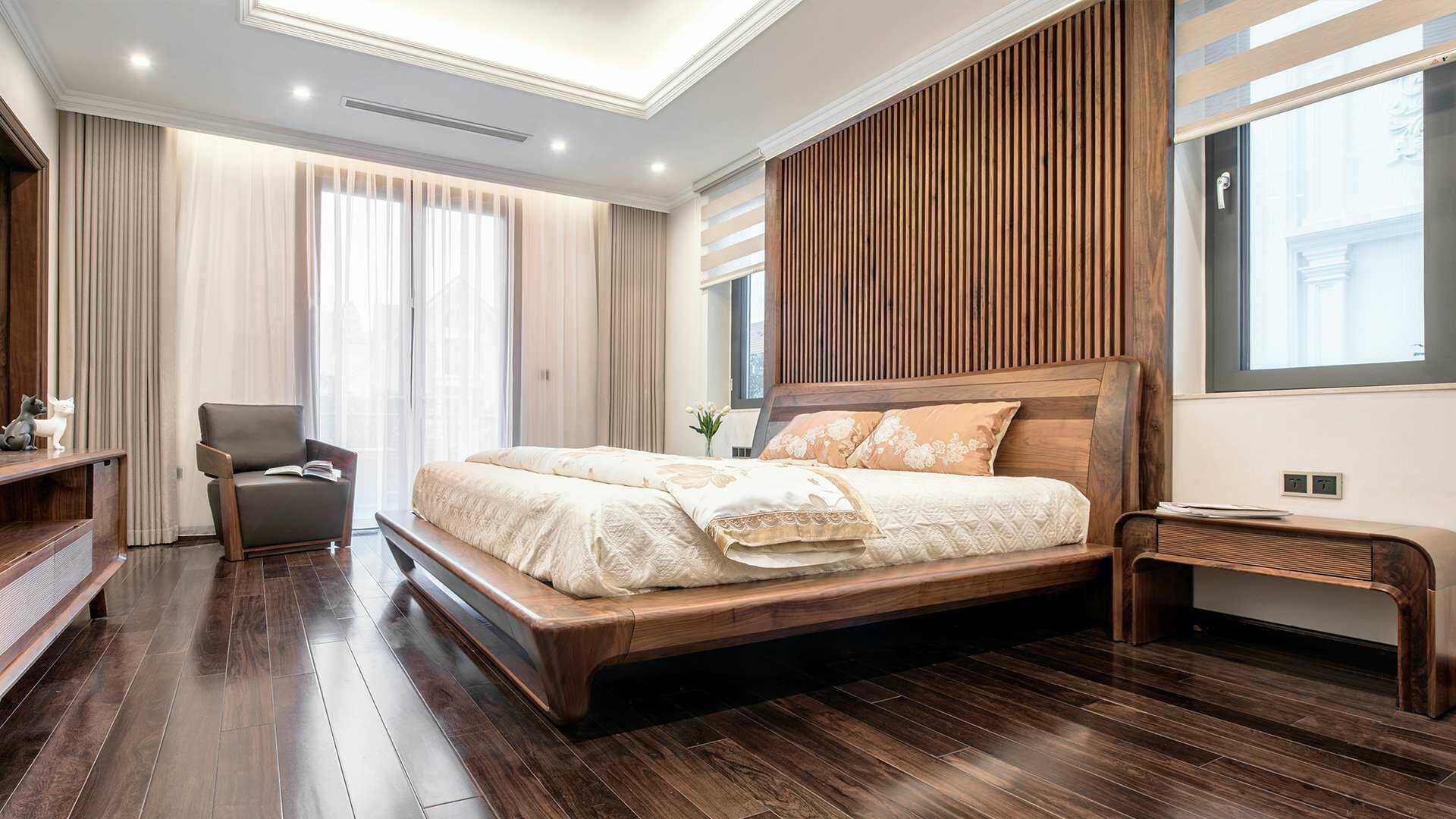 Nội thất phòng ngủ gỗ tự nhiên đẹp