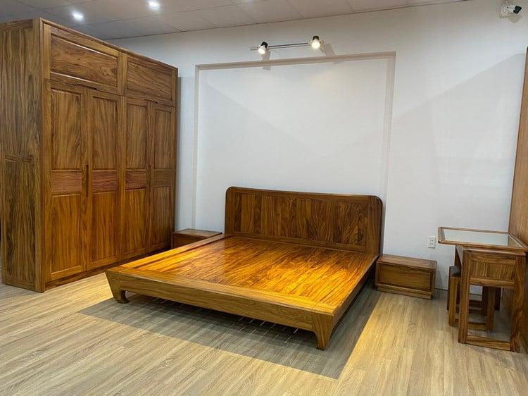 nội thất phòng ngủ gỗ hương vân