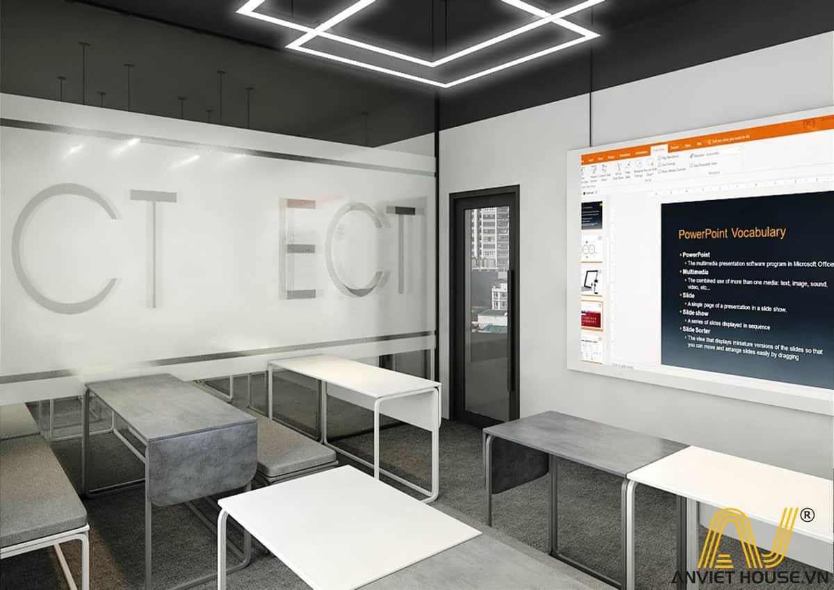 Thiết kế nội thất phòng học ECT 2