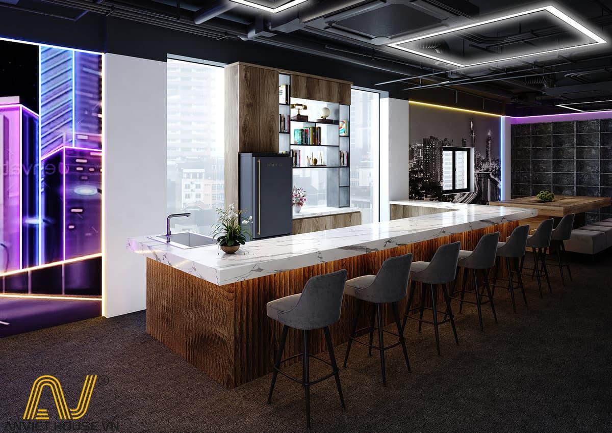 Thiết kế nội thất quầy Bar ECT