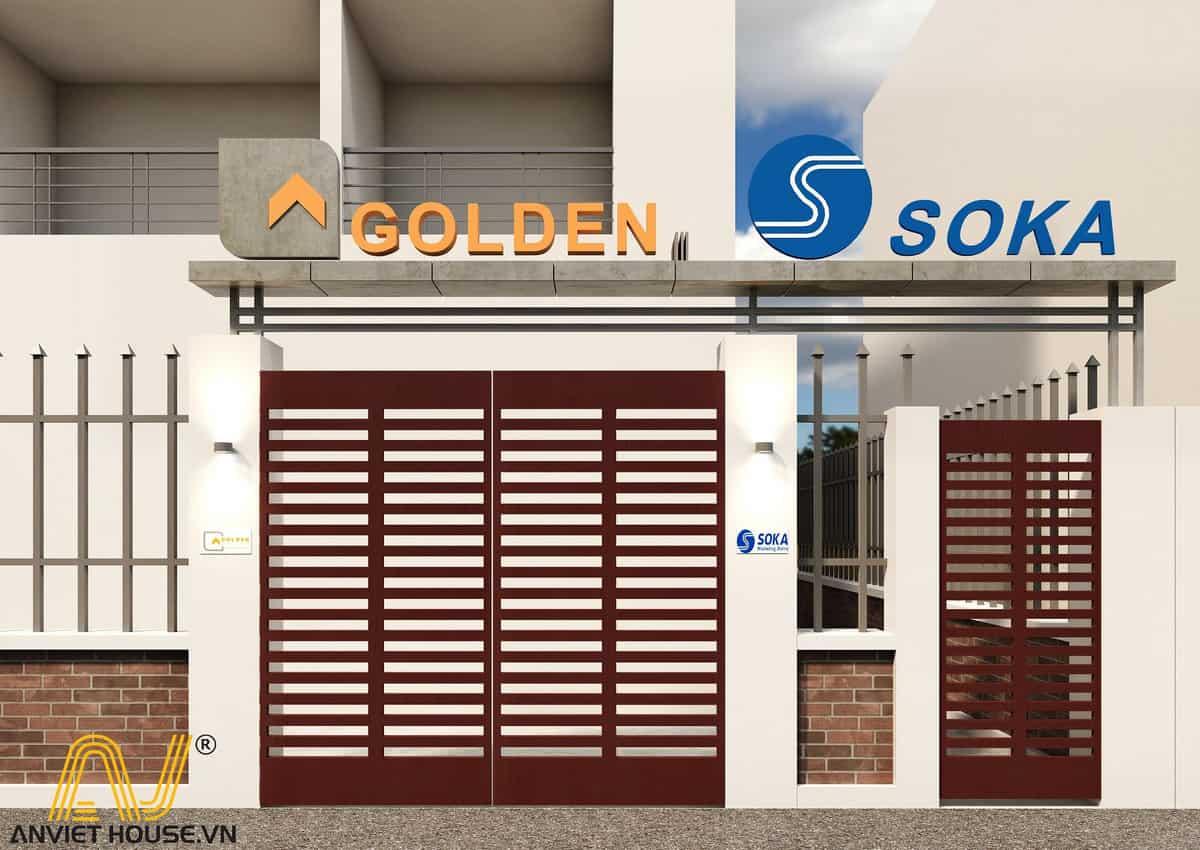 thiết kế văn phòng golden