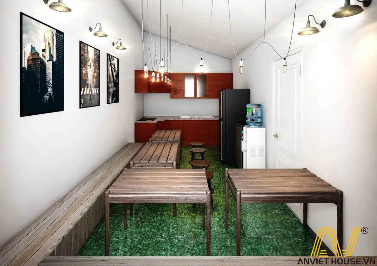 Thiết kế văn phòng Golden - tầng 4 - phòng ăn