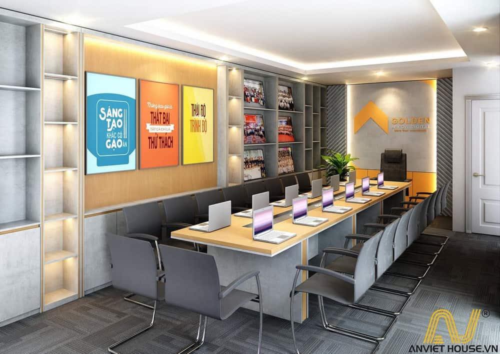 Thiết kế văn phòng golden tầng 1 - phòng đào tạo