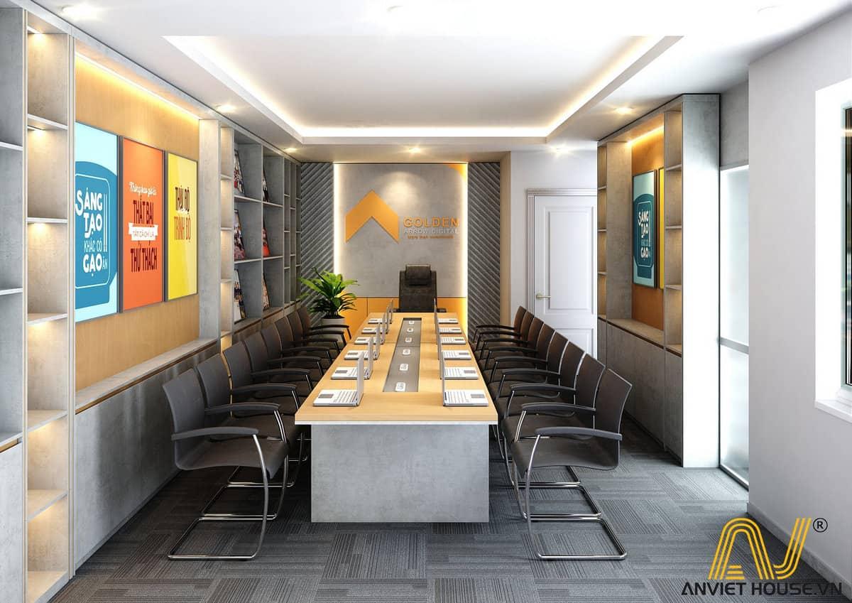 Thiết kế nội thất văn phòng Golden tầng 1 phòng đào tạo