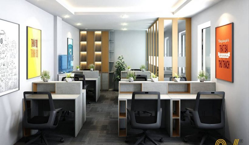 Thiết kế văn phòng golden tầng 2 - phòng làm việc nhân viên