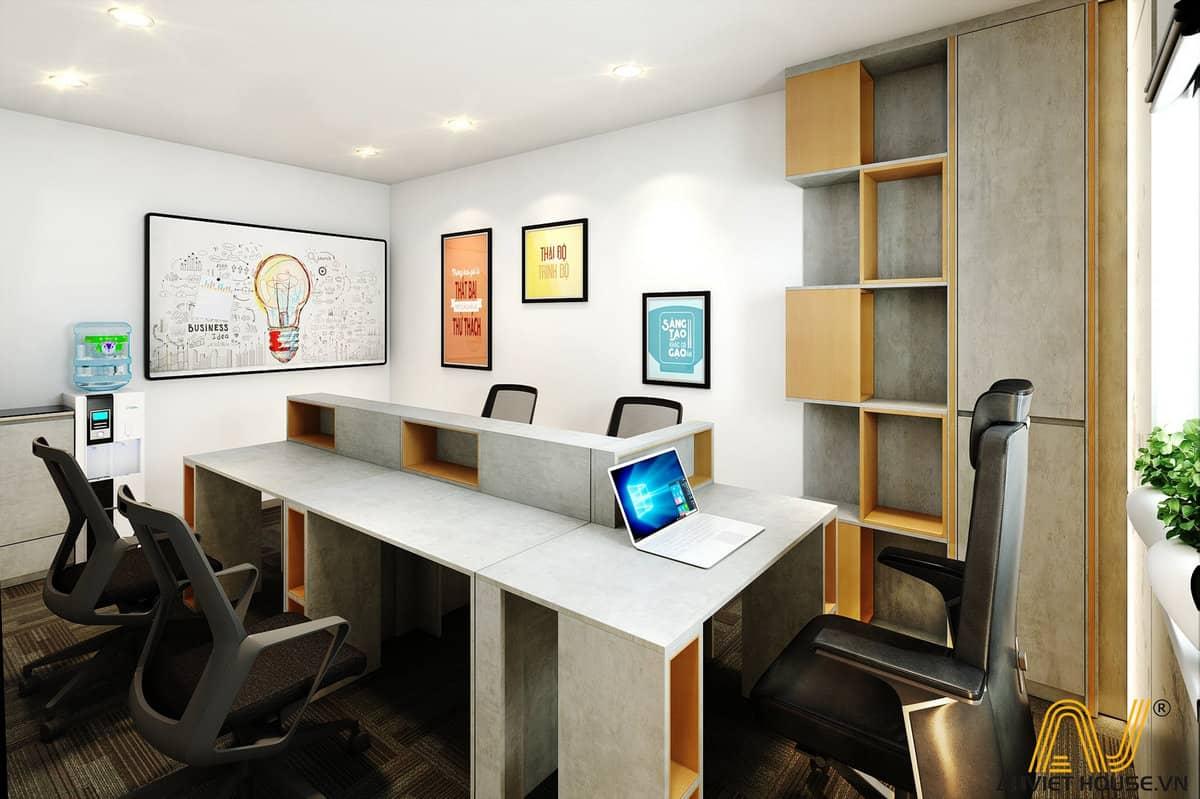 thiết kế văn phòng golden - tầng 3 - phòng lãnh đạo 2
