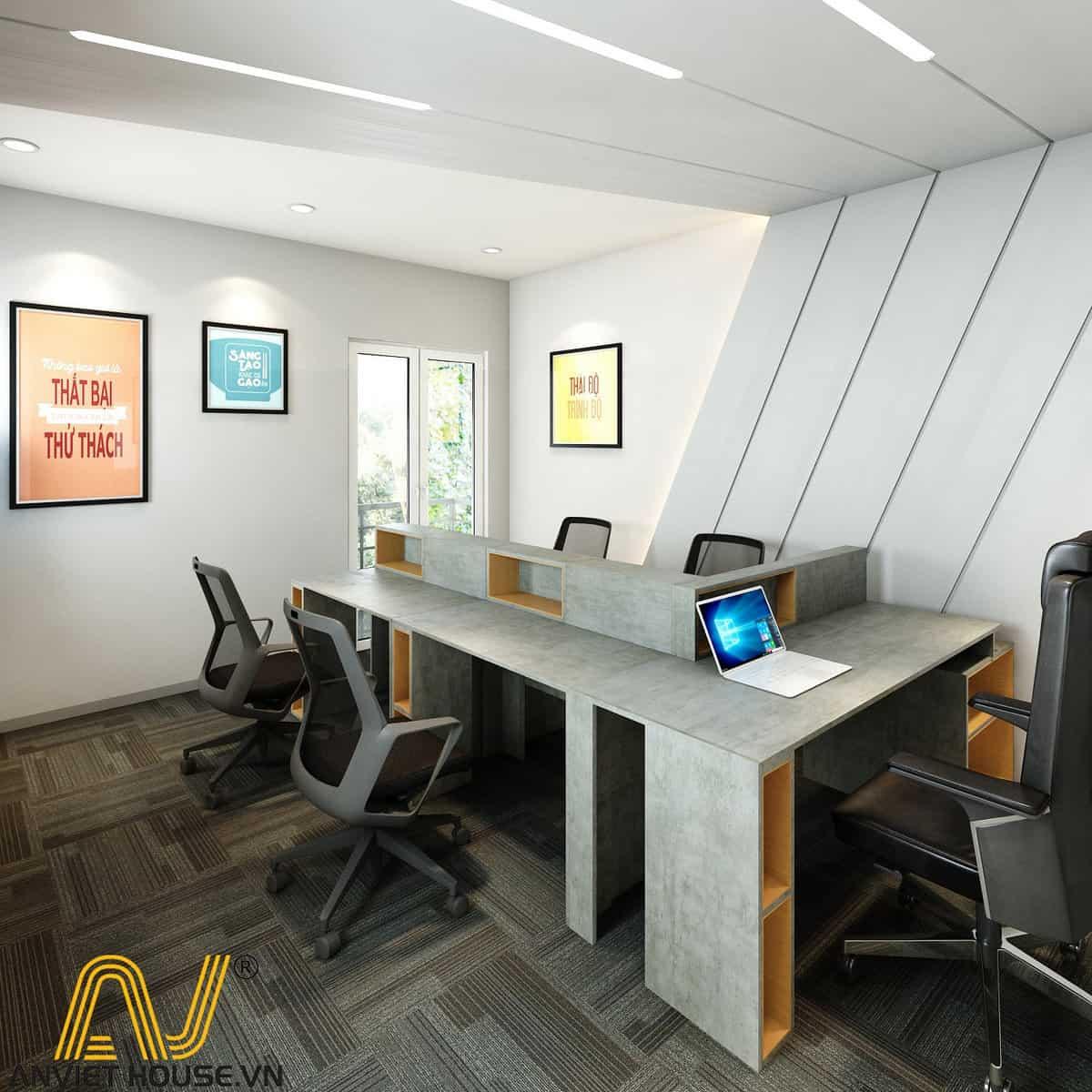 thiết kế văn phòng golden - tầng 3 - phòng lãnh đạo 1