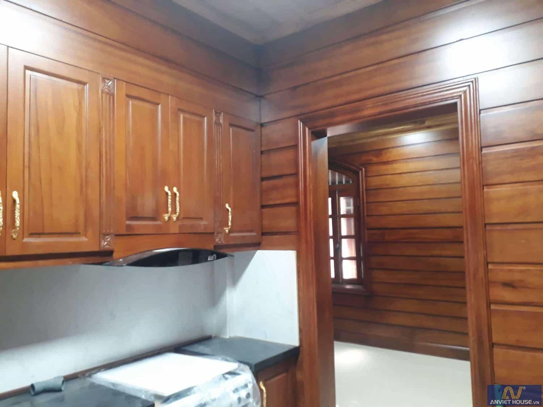 anviethouse thi công tủ bếp gỗ gõ đỏ