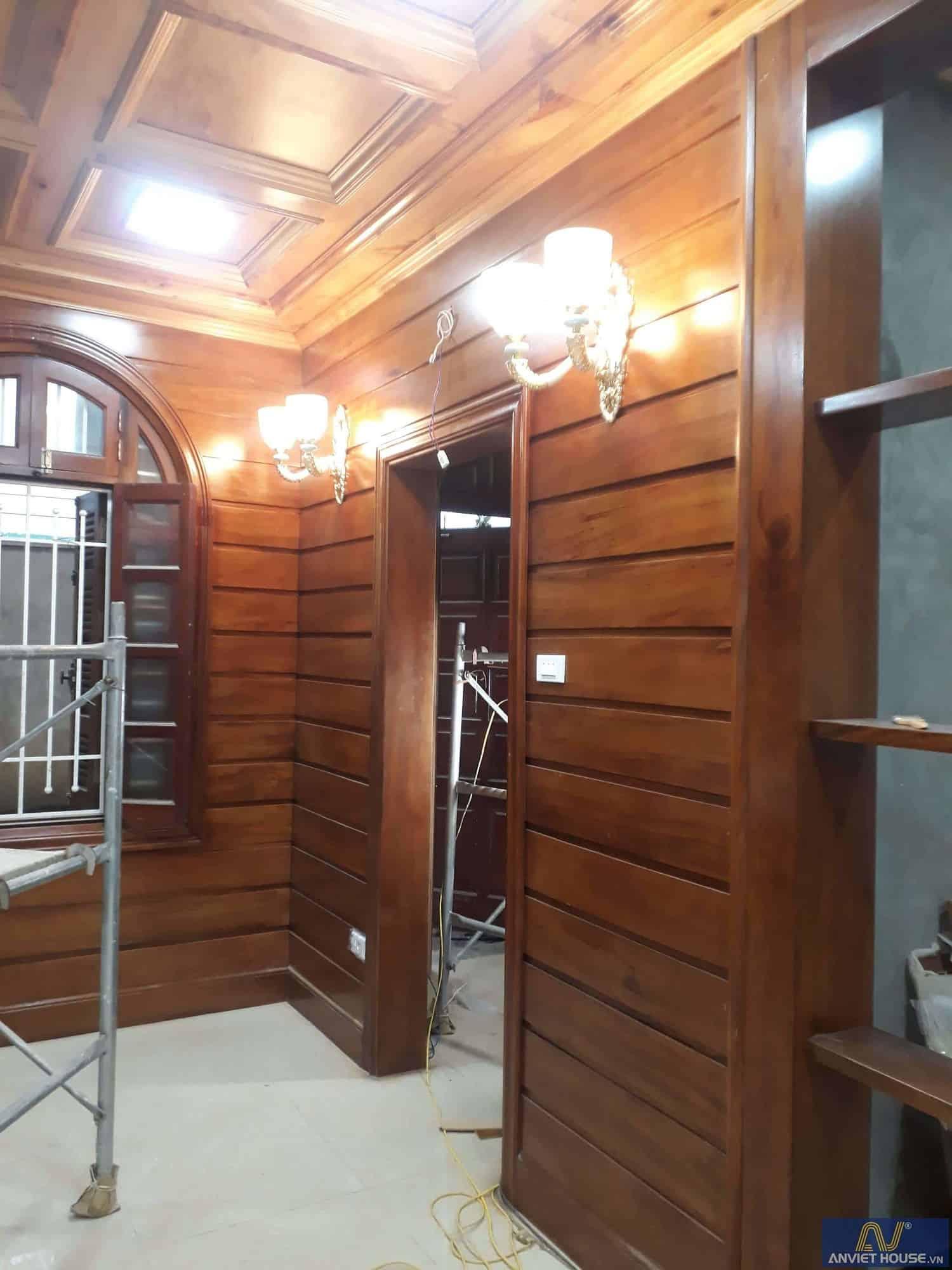 thi công nội thất gỗ tự nhiên cho phòng khách