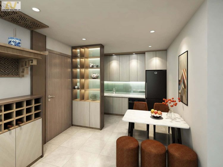 Thiết kế nội thất căn hộ chung cư 3 phòng ngủ