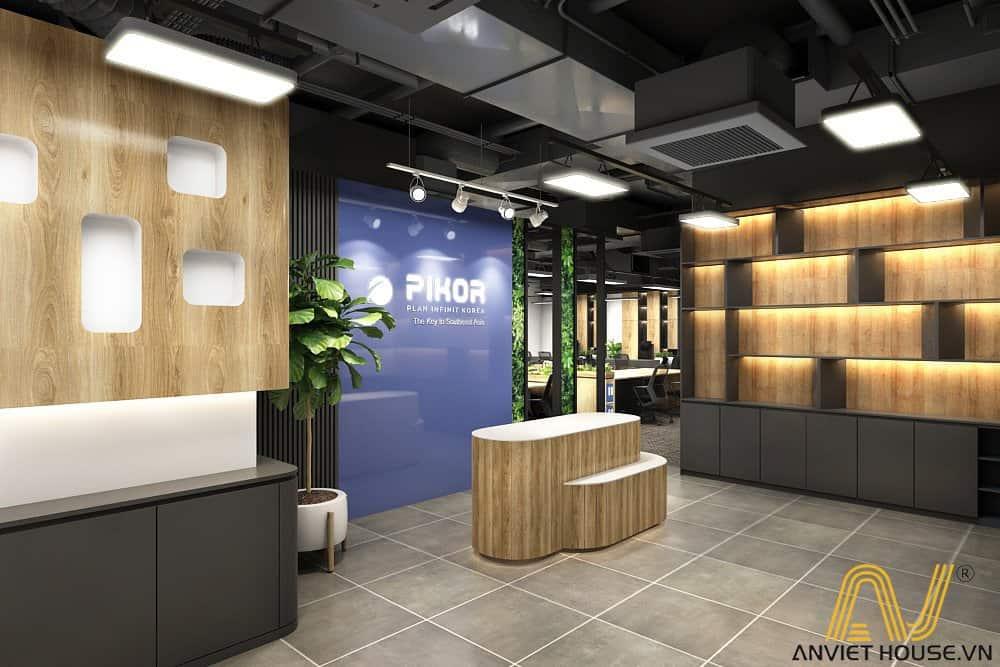 an viet house thiết kế nội thất sảnh văn phòng pikor