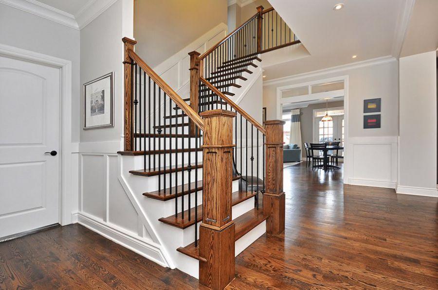 cầu thang gỗ sắt