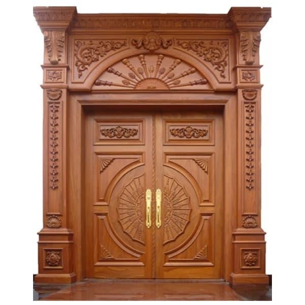 cửa gỗ biệt thự phong cách cổ điển