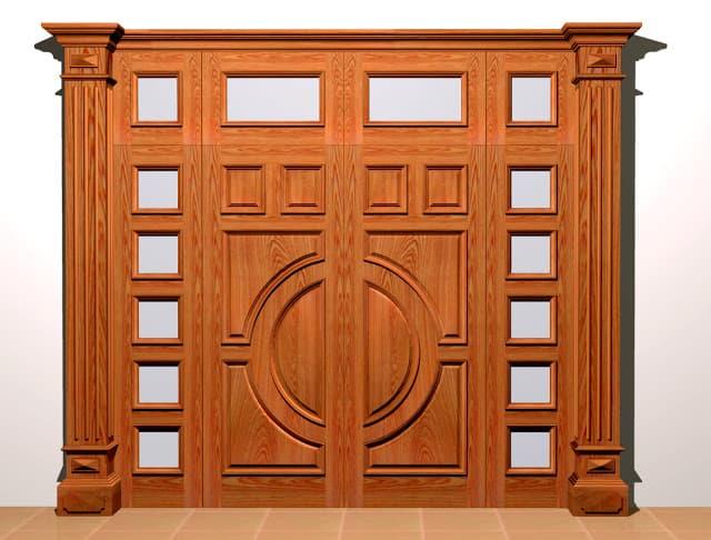cửa gỗ biệt thự đẹp phong cách hiện đại