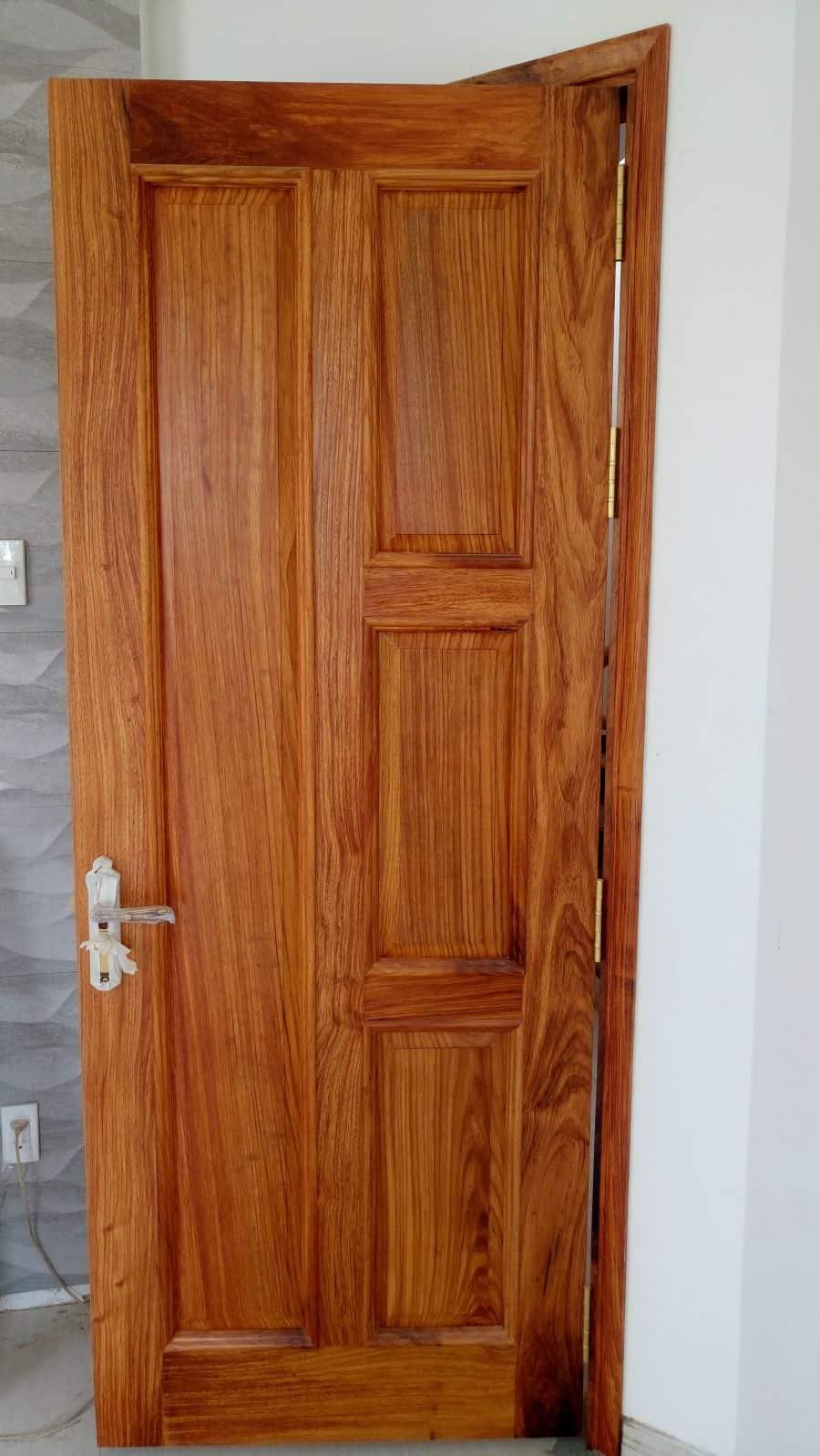 Mẫu cửa 1 cánh từ gõ đỏ