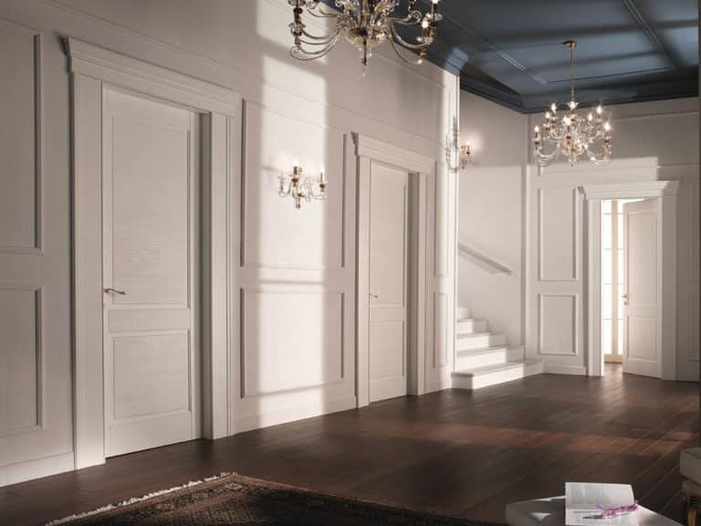 cửa gỗ 1 cánh phòng ngủ tân cổ điển