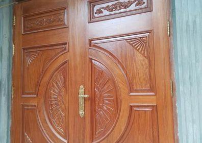 thi công cửa gỗ phòng khách đẹp