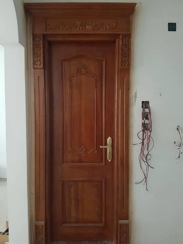 Thi công cửa gỗ 1 cánh