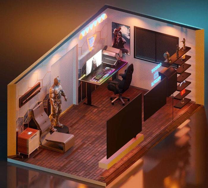 nội thất phòng livestream game ấn tượng