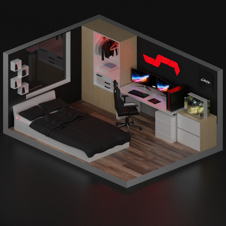 Mẫu thiết kế phòng livestream game ấn tượng