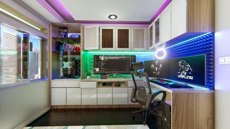 Mẫu thiết kế phòng stream game ấn tượng