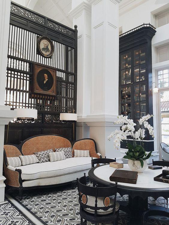 nội thất biệt thự Pháp phong cách Indochine