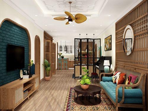 Màu sắc nổi bật của phong cách nội thất Indochine
