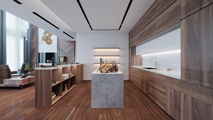 sàn gỗ bếp bền bỉ