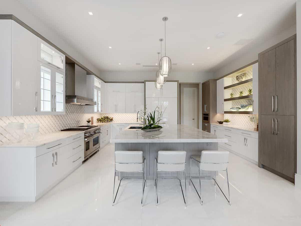 Nội thất bếp biệt thự hiện đại