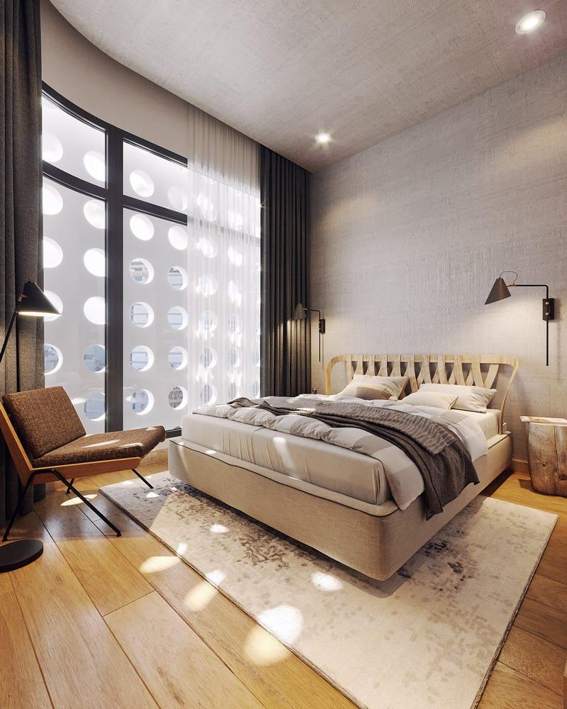 Nội thất nhà liền kề hiện đại siêu sang: phòng ngủ