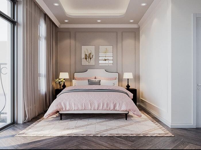 Nội thất phòng ngủ hiện đại siêu sang biệt thự song lập