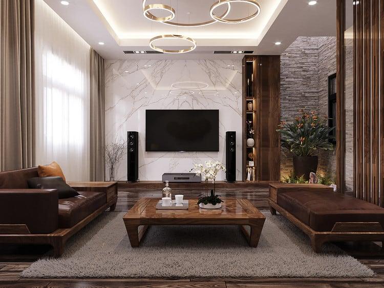 Lựa chọn màu sắc chủ đạo cho nội thất phòng khách