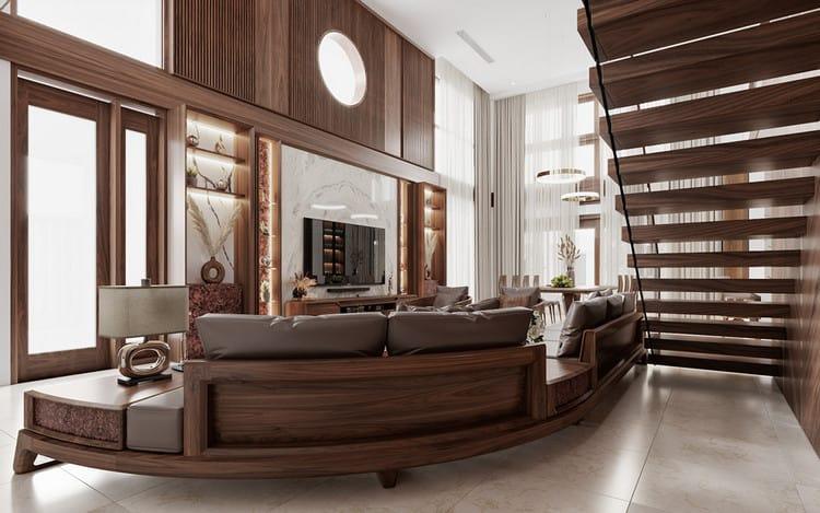Tạo điểm nhấn cho không gian phòng khách