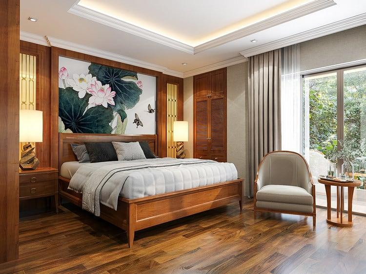 Nội thất phòng ngủ biệt thự nhà vườn