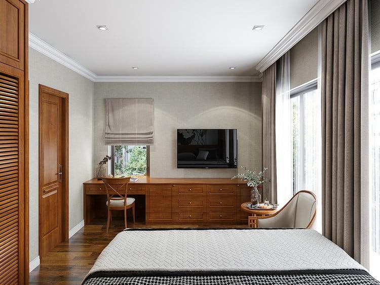 Nội thất phòng ngủ nhà vườn