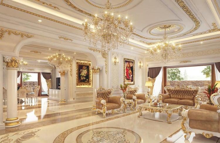 Thiết kế nội thất biệt thự cổ điển châu Âu