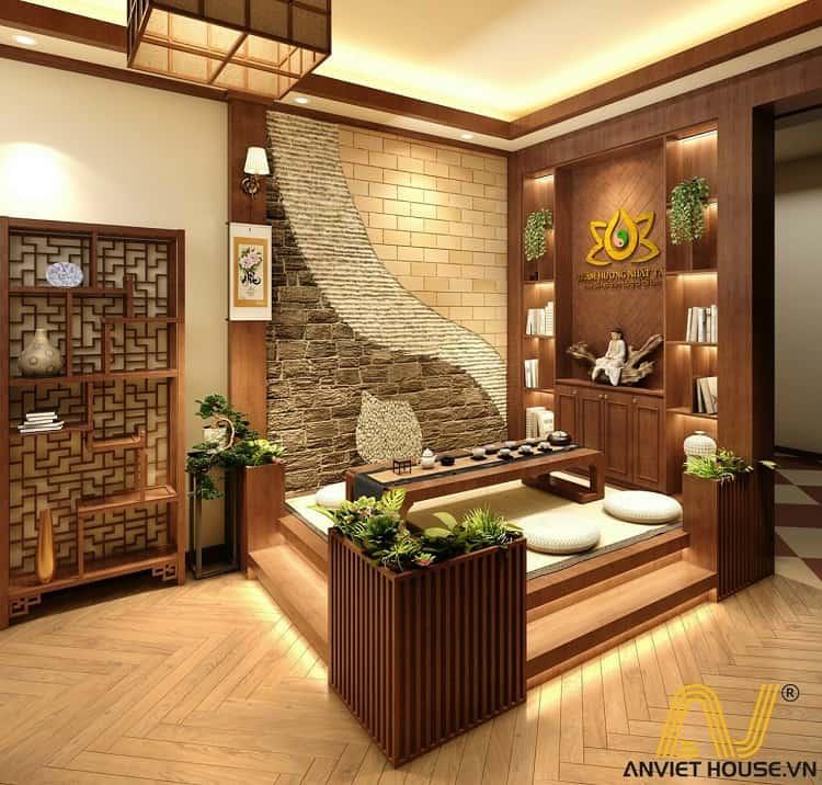 Cửa hàng trầm hương Nhật Tâm - thiết kế phối cảnh 3D