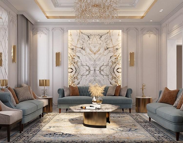 thiết kế nội thất nhà vườn tân cổ điển