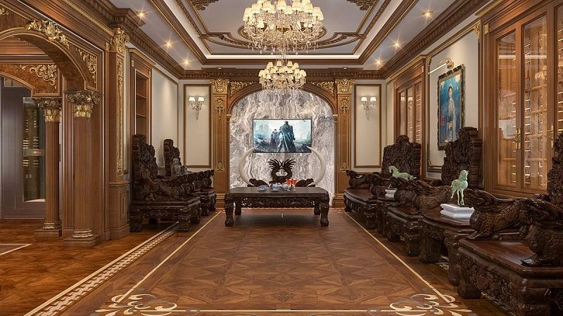 nội thất gỗ biệt thự cổ điển
