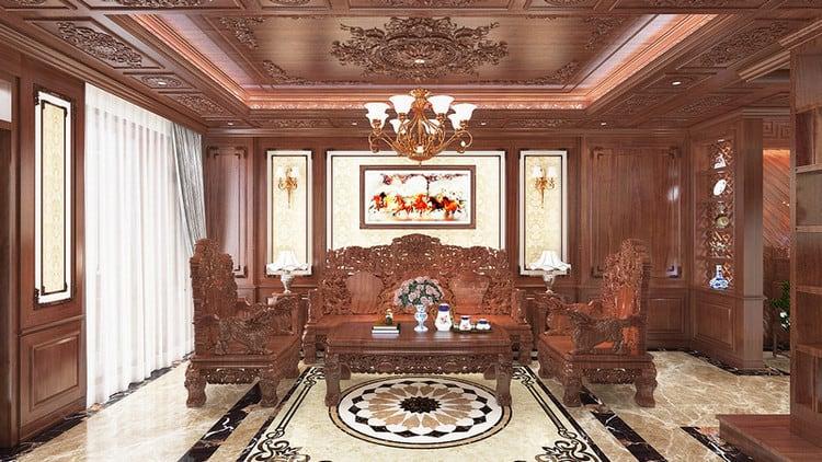 Thiết kế nội thất biệt thự cổ điển truyền thống