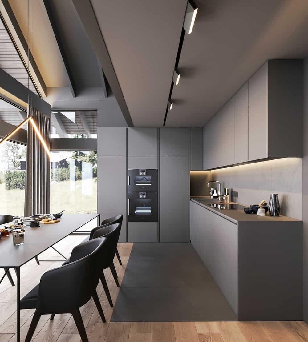 Thiết kế nội thất bếp biệt thự hiện đại