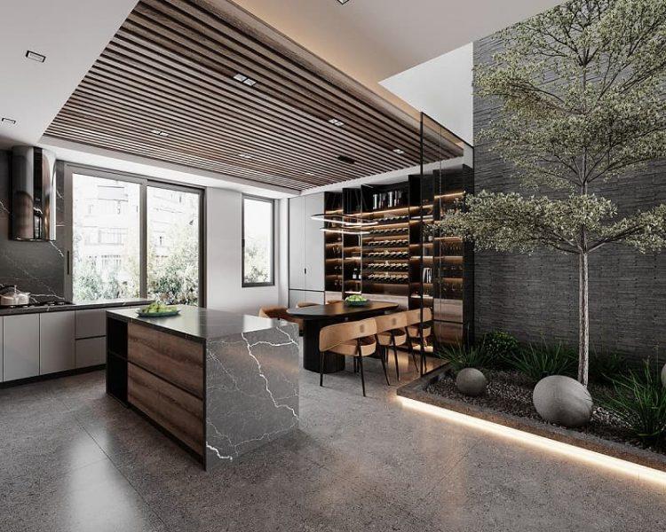 không gian bếp sang trọng cho biệt thự