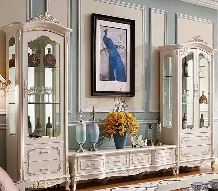 tủ rượu phong cách tân cổ điển