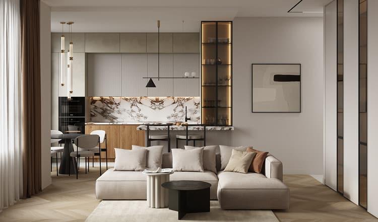 Thiết kế nội thất bếp đẹp chung cư