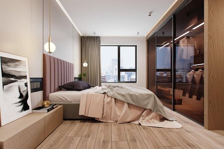 Mẫu chung cư đẹp 1+1 - phòng ngủ chính