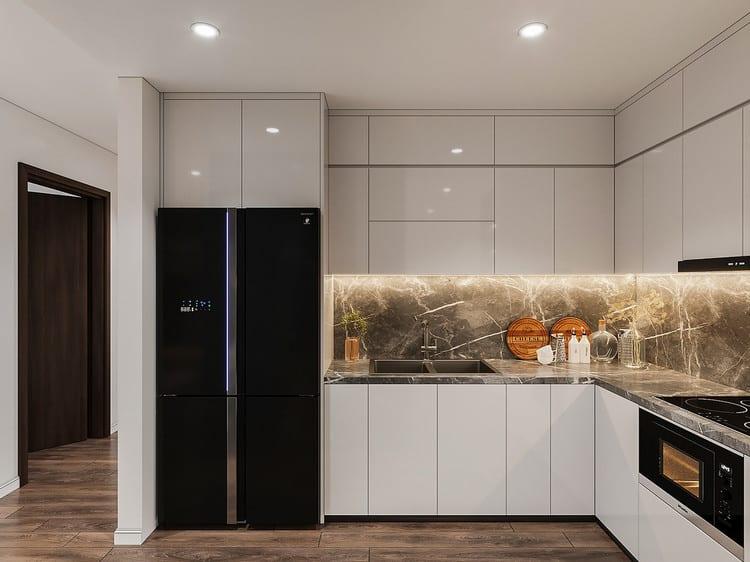Nội thất bếp căn hộ 2 phòng ngủ