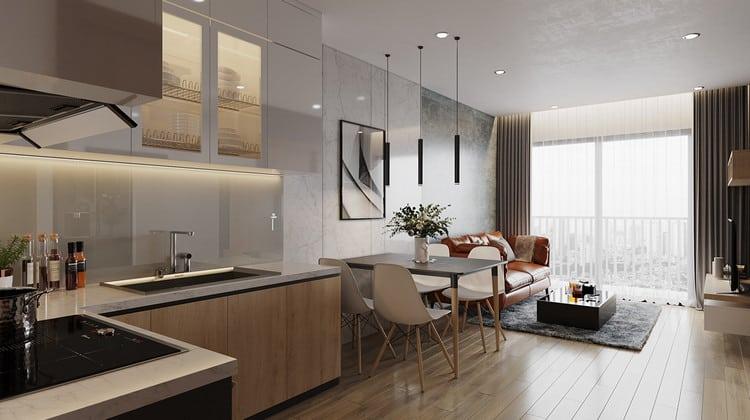 Thiết kế căn hộ vinhomes smart city 45m2