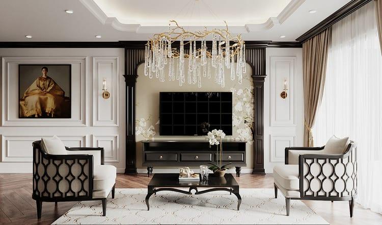 Thiết kế căn hộ đẹp phong cách Đông Dương - phòng khách