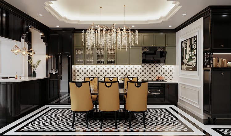 Thiết kế căn hộ đẹp - khu vực bếp